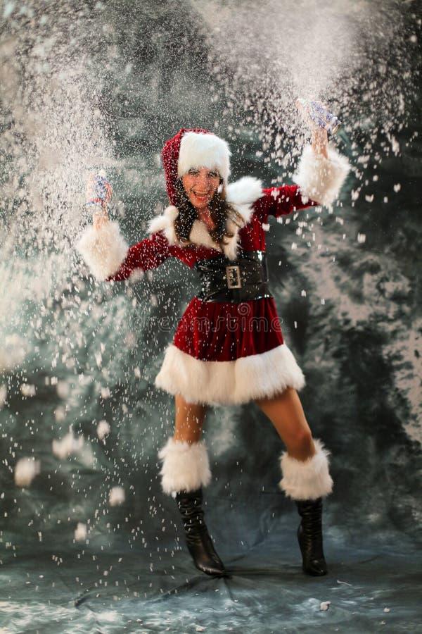 Download The snow Girl stock photo. Image of snow, santa, costume - 21904002