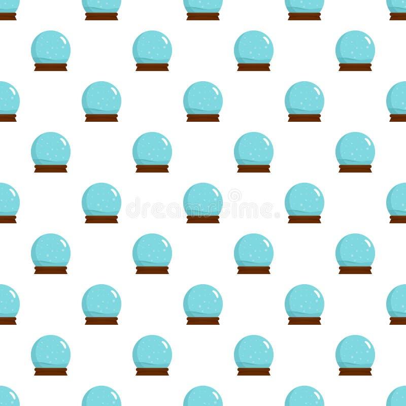 Snow glass ball pattern seamless vector vector illustration