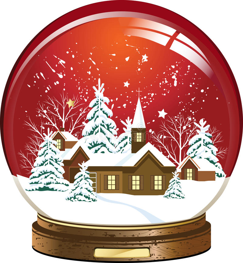 Download Snow globe stock vector. Illustration of isolated, shiny - 16765059