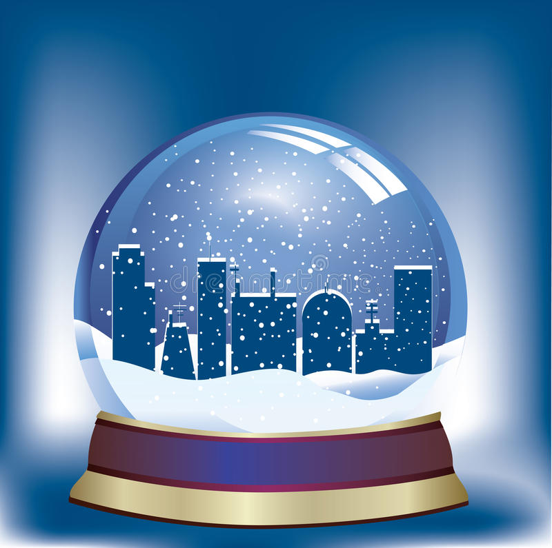 Download Snow globe stock vector. Image of christal, augur, christmas - 21191041