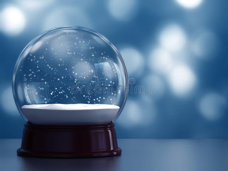 Snow globe vector illustration