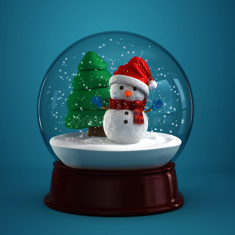 Snow globe royalty free illustration