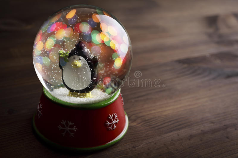 Snow globe. With snow flakes,beautiful holiday concept royalty free stock images