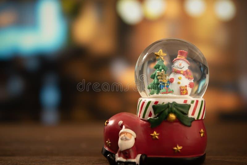 Snow globe ball stock image