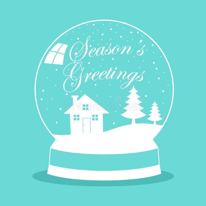 Snow Globe For Christmas Theme royalty free illustration