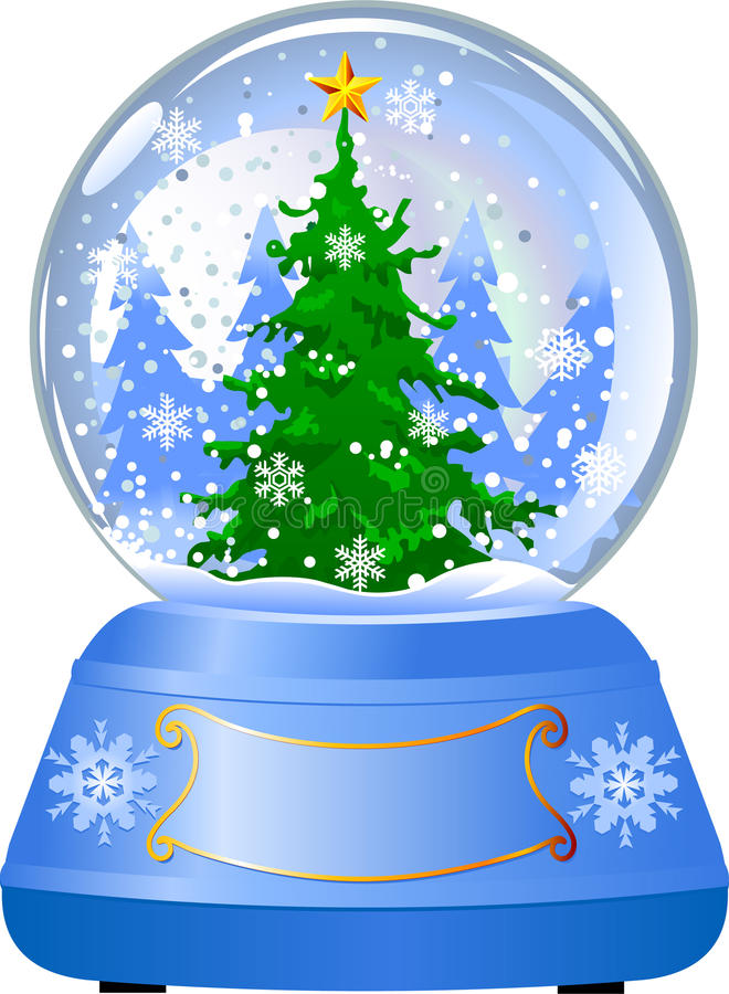 Download Snow Globe With A Christmas Tree Stock Vector - Image: 11264189