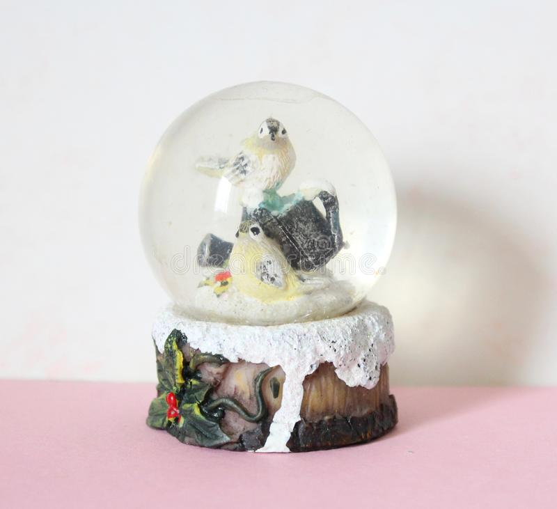 Snow globe. A snow globe with clear background stock photos