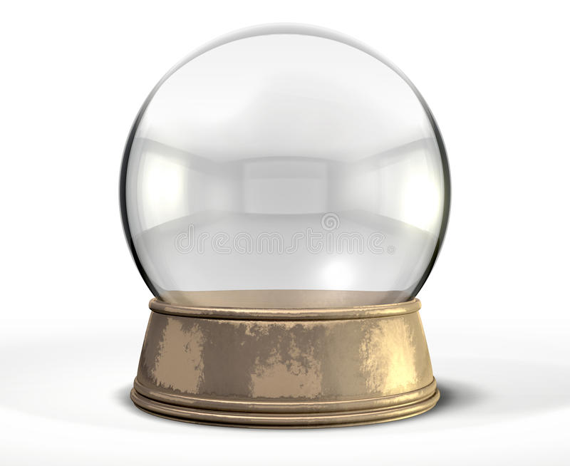 Snow Globe Crystal Ball stock illustration