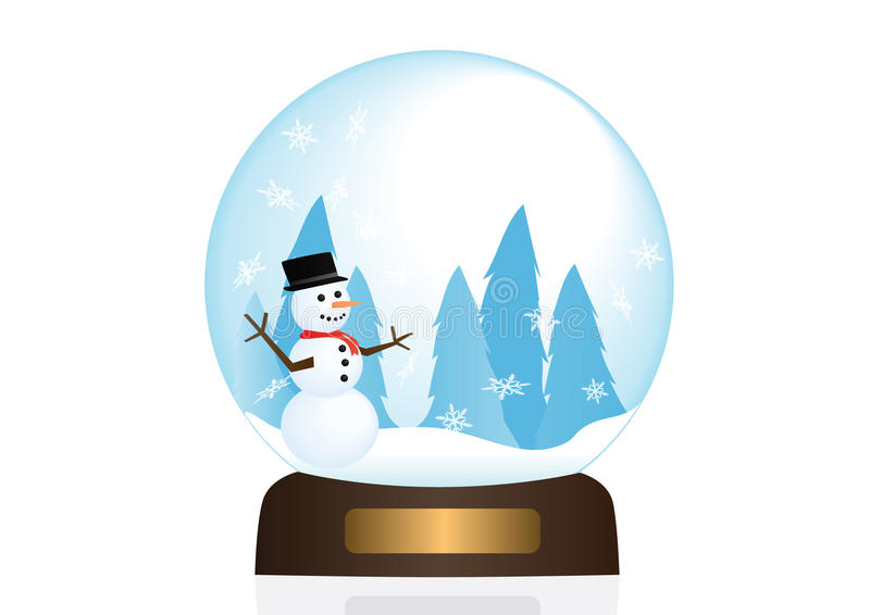 Snow Globe Illstration stock image