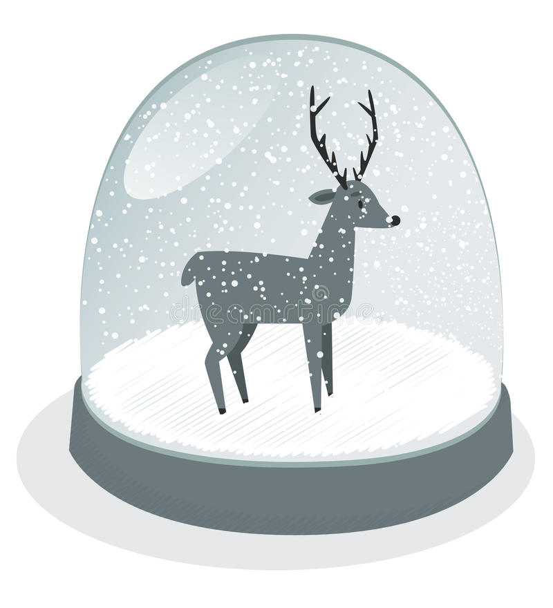 Download Snow Globe Vector Royalty Free Stock Images - Image: 35113999