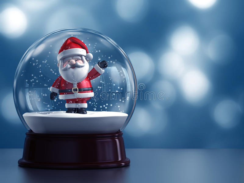 Snow globe with Santa Claus royalty free illustration