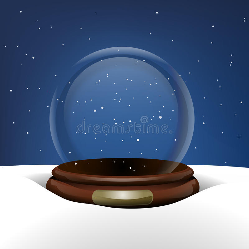 Snow Globe In Snow Stock Images