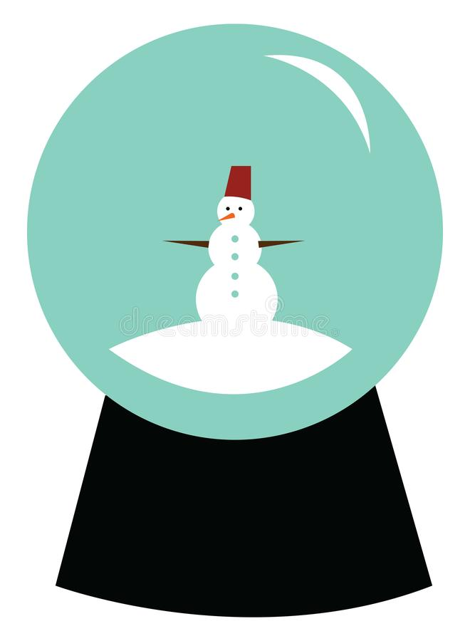 Snow globe with snowman vector or color illustration stock illustration