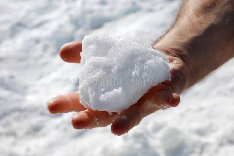 Download Snow in a Hand stock photo. Image of frost, background - 7700766