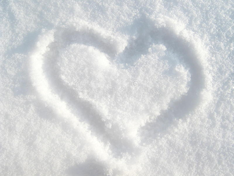 Download Snow heart stock photo. Image of message, heart, cool - 12259222