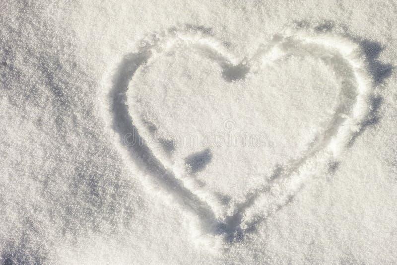 Snow heart stock image