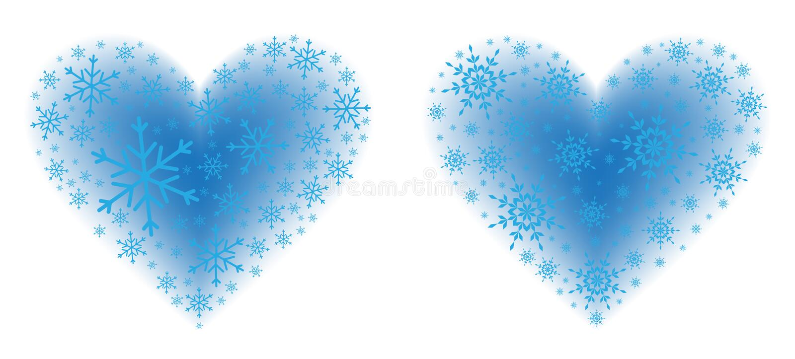 Download Snow Hearts stock vector. Illustration of emotion, seasonal - 29507332