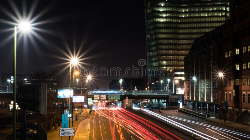 Snow Hill Railway Station and Great Charles Street Queensway, Birmingham, UK stock images