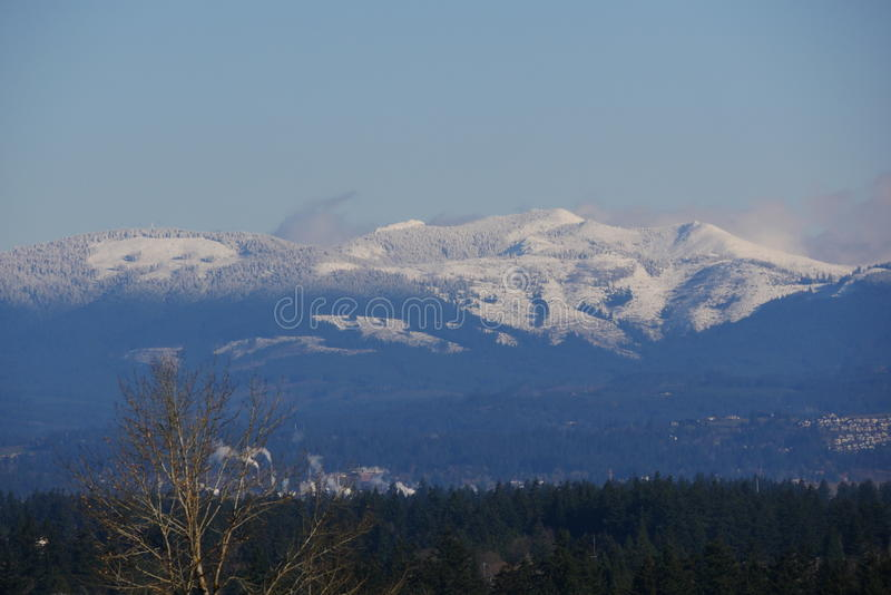 Download Snow On Hills In Oregon Stock Photo - Image: 83715404