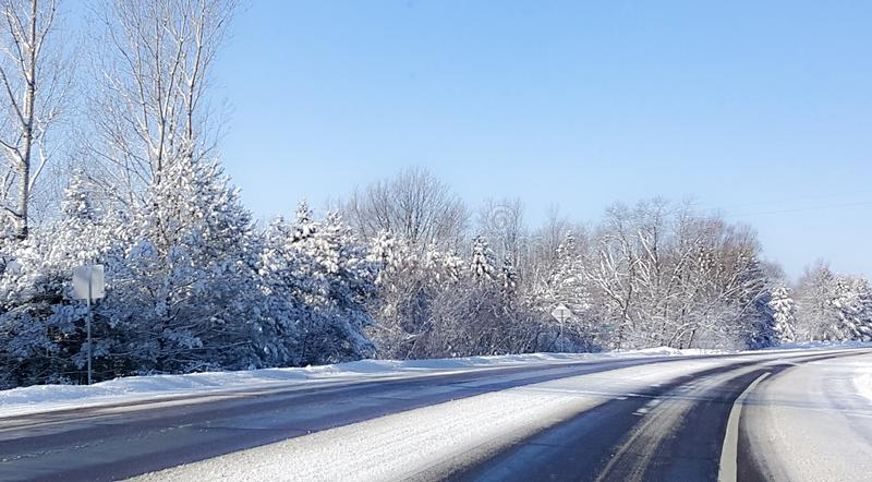 Frosted Road stock photo
