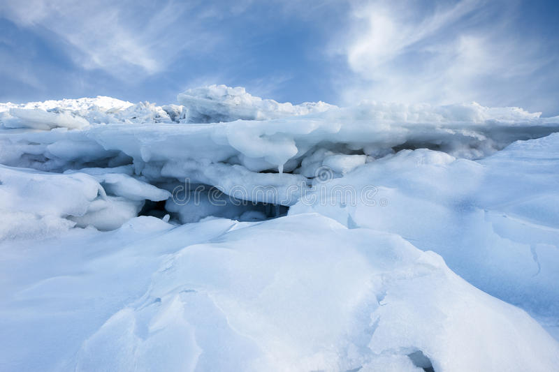 Snow and ice royalty free stock image
