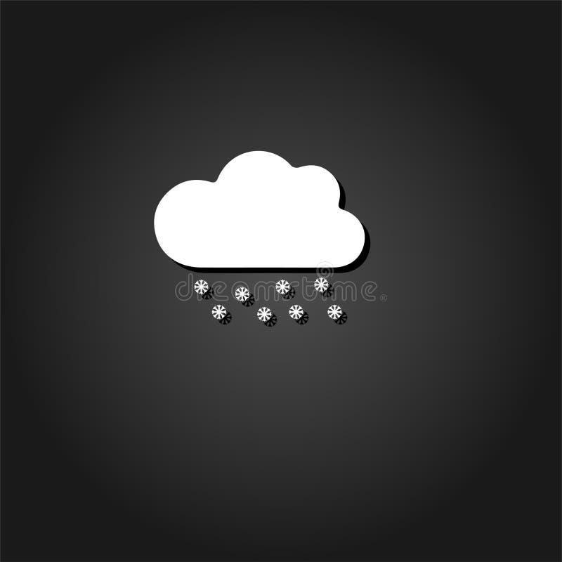 Snow icon flat vector illustration