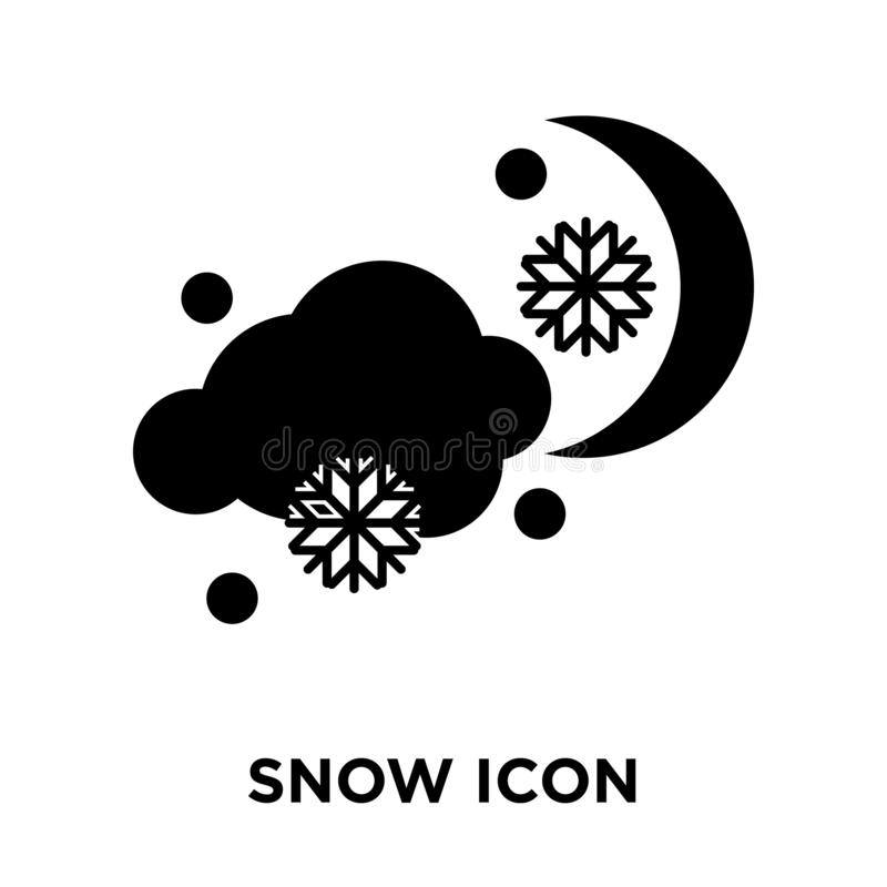 Snow icon vector isolated on white background, logo concept of S vector illustration