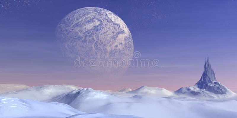 Snow landscape royalty free illustration