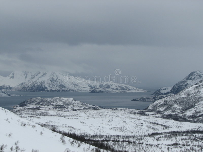 Snow landscape royalty free stock photos