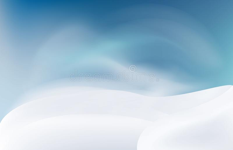Snow landscape in the evening. royalty free stock images