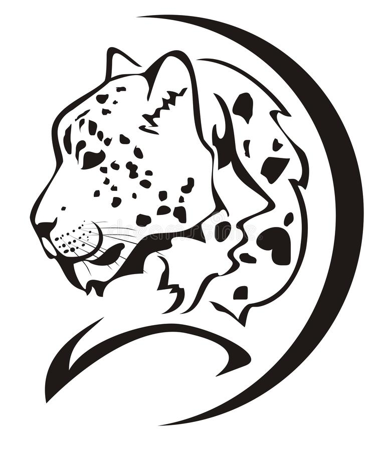 Snow Leopard Head Symbol Stock Vector Illustration Of Hunter 27622682