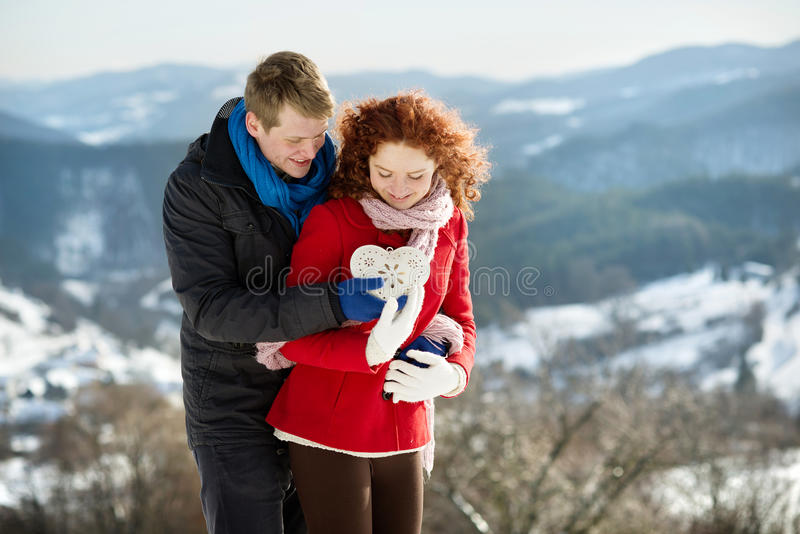 Download Snow love stock image. Image of female, happiness, clothes - 28532717