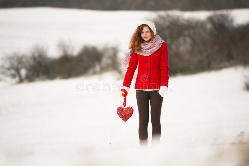 Download Snow love stock image. Image of outdoor, ginger, happy - 28610905