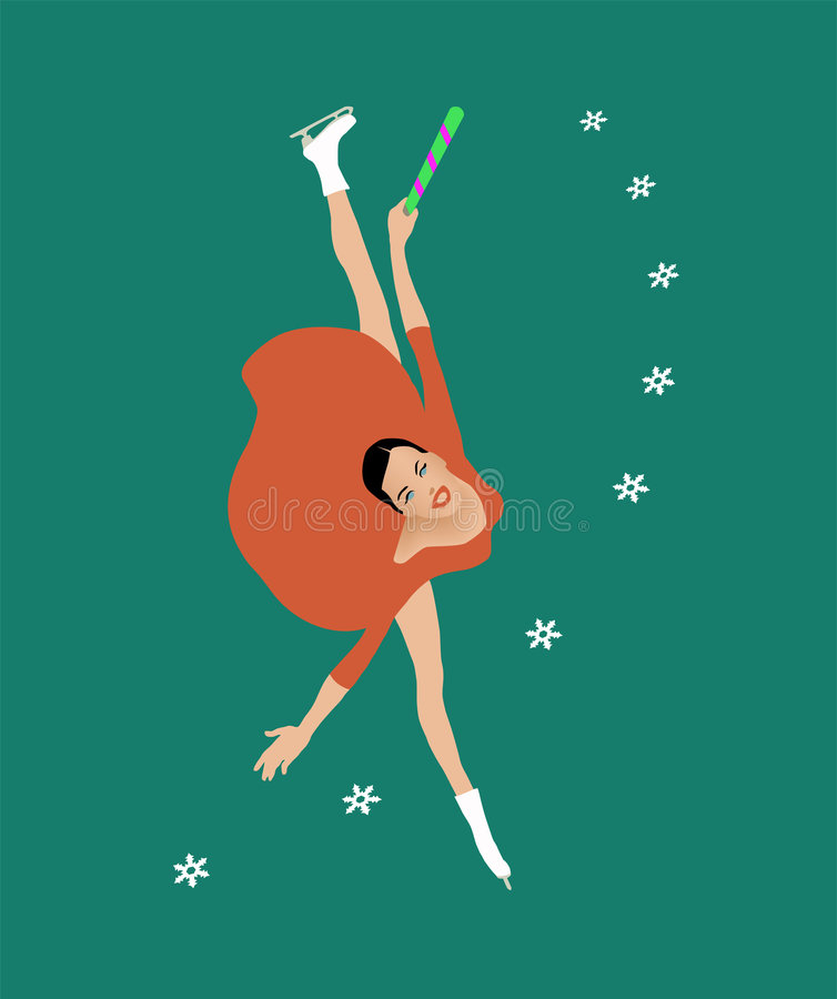 Download Snow Maiden stock vector. Image of skater, greeting, preparation - 3887420