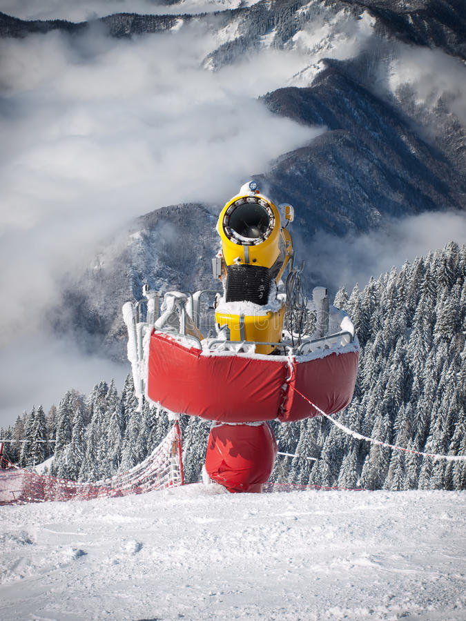 Download Snow maker stock image. Image of hill, sport, making - 32932887