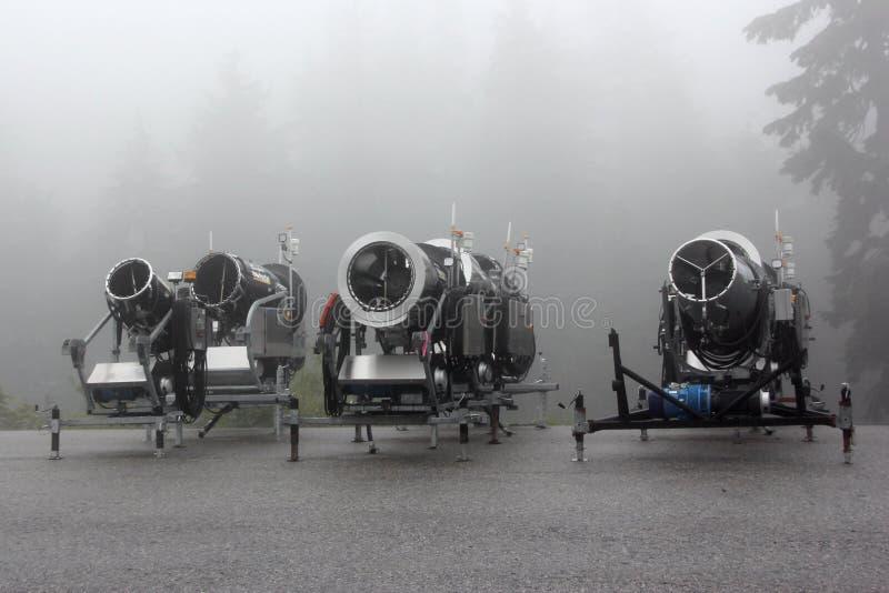 Snow Making Machines royalty free stock photo