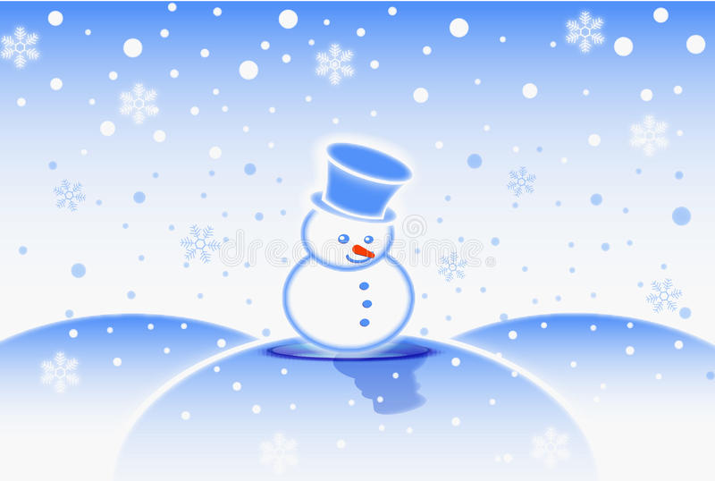 Snow Man Royalty Free Stock Photos