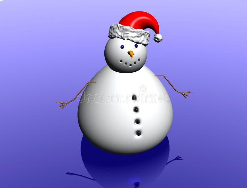 Download Snow Man With Christmas Hat Stock Illustration - Illustration: 1621467
