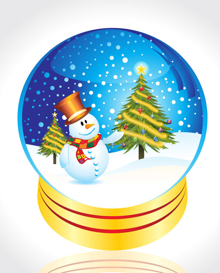 Download Snow Man With Christmas Tree Stock Vector - Image: 16051264