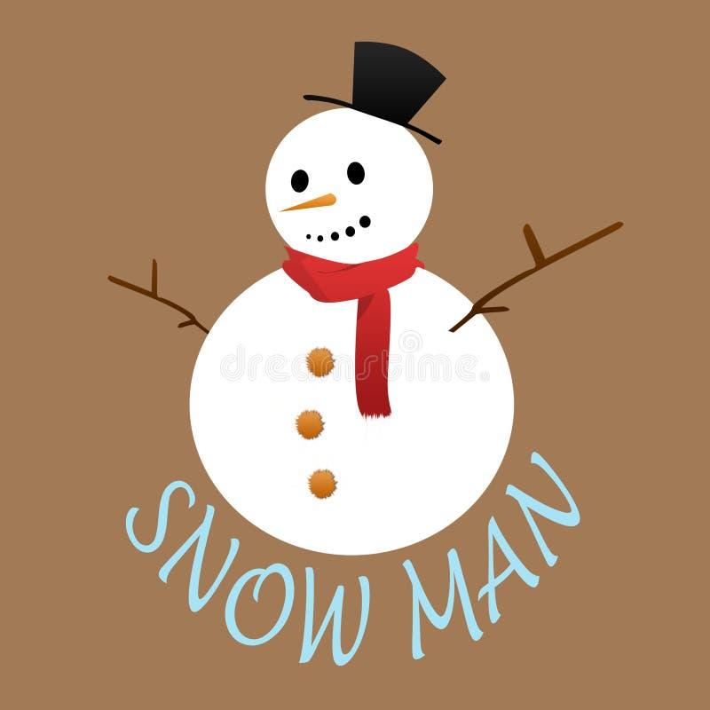 Snow man stock illustration