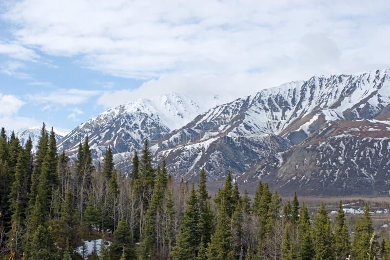Snow melting on Alaska Range