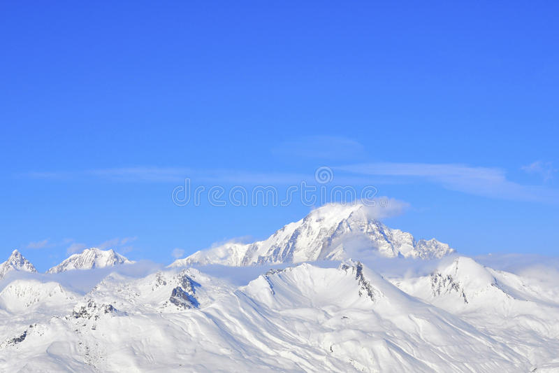 Snow On Mountain Royalty Free Stock Images