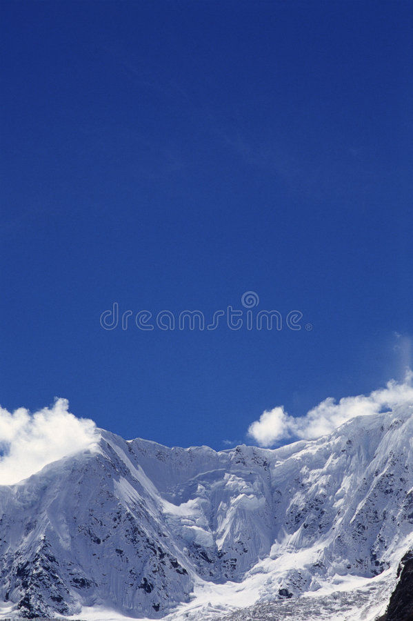 Download Snow mountain stock image. Image of extreme, blue, frigid - 4417699