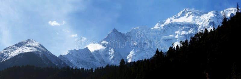Snow mountain. Annapurna snow mountain at nepal royalty free stock photography