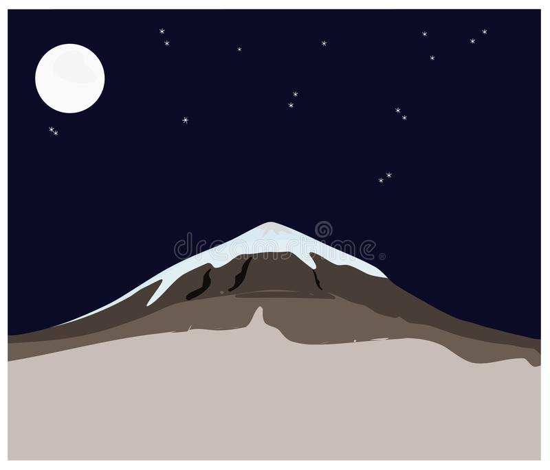 snow mountain dark blue night sky plain clean vector illustration rh dreamstime com night sky vector art night sky vector free