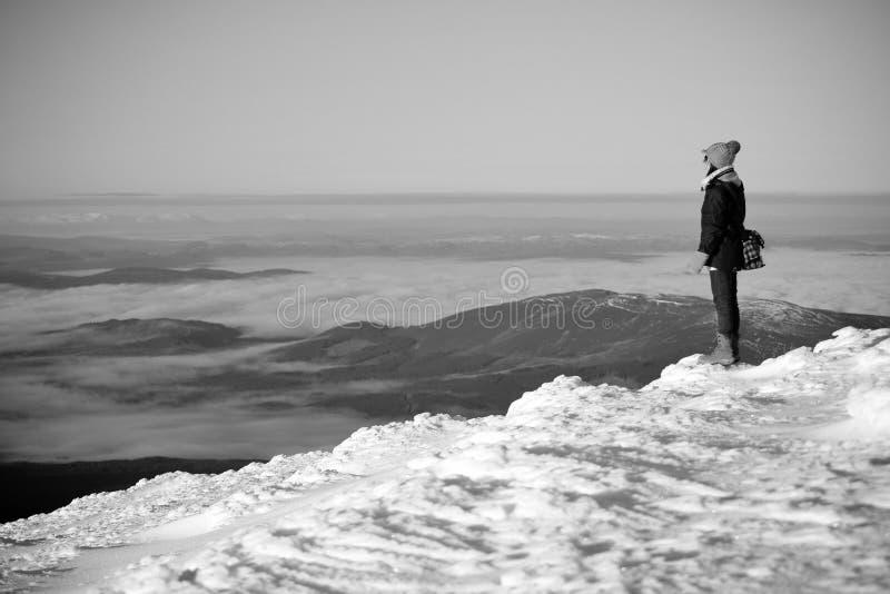 Snow mountain hiker