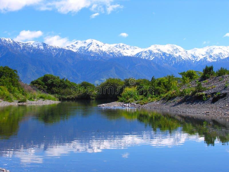 Snow Mountain And Lake royalty free stock image