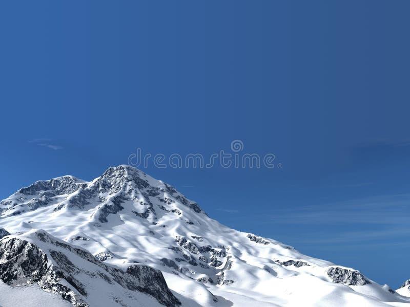 The Snow Mountain Mountains Royalty Free Stock Images