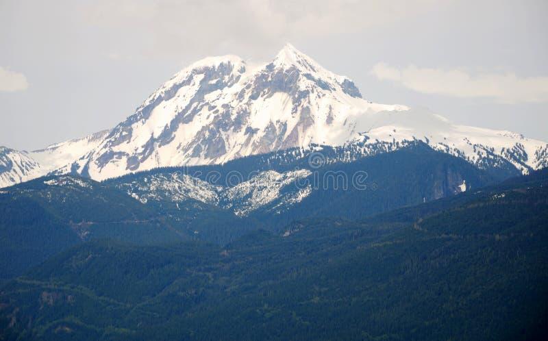 Snow mountain peak royalty free stock photos