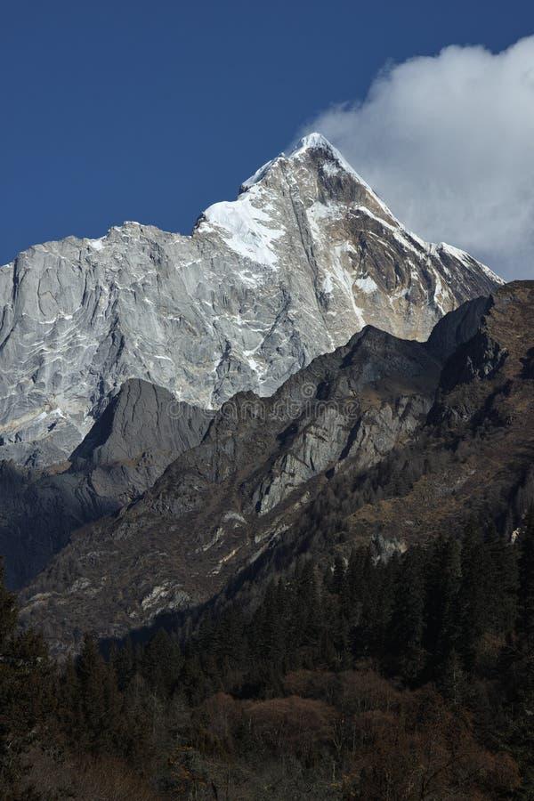 Snow mountain. The peak of a snow mountain in china stock photo
